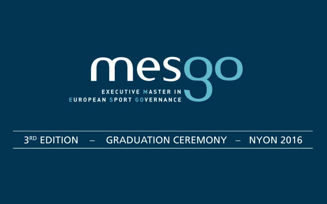 MESGO – Cérémonie de Remise des Diplômes