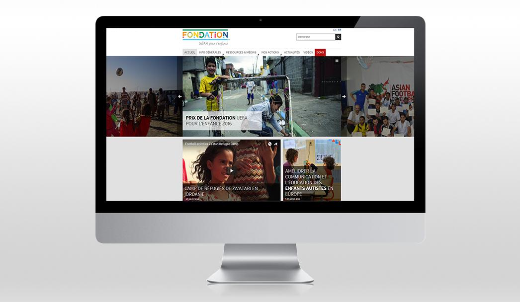 Amélioration du site UEFA Fondation pour l'Enfance